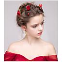 abordables Bijoux de Cheveux-Floqué Fleurs / Bâton de cheveux / Épingle à cheveux avec Fleur 1pc Mariage / Occasion spéciale / Anniversaire Casque