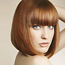 cheap Synthetic Capless Wigs-Synthetic Wig Women's Straight Brown Bob / With Bangs Synthetic Hair With Bangs Brown Wig Medium Length Capless Light Brown