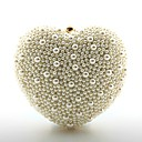 cheap Clutches & Evening Bags-Women's Bags PU Evening Bag Pearls White
