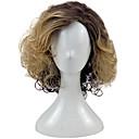 ieftine Peruci Dantelă Sintetice-Peruci Sintetice Buclat Blond Păr Sintetic Păr Ombre Blond Perucă Pentru femei Mediu Fără calotă Maro auriu hairjoy