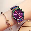 preiswerte Modische Uhren-Damen Armbanduhr Japanisch Kalender / Chronograph / Wasserdicht Edelstahl Band Luxus / Modisch / Elegant Grün / Lila / Zwei jahr / Sony 377