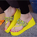 cheap Women's Slippers & Flip-Flops-Women's Shoes EVA Summer Comfort Slippers & Flip-Flops Wedge Heel Open Toe Black / Yellow / Green