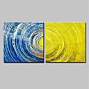 tanie Pejzaże-Hang-Malowane obraz olejny Ręcznie malowane - Streszczenie Nowoczesny Brezentowy / Rozciągnięte płótno