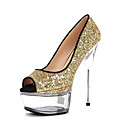 preiswerte Nagelbürsten-Damen Schuhe maßgeschneiderte Werkstoffe Sommer / Herbst Leuchtende LED-Schuhe / Club-Schuhe High Heels Stöckelabsatz / Plattform