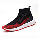 cheap Men's Sneakers-Men's Knit Spring / Fall Comfort Sneakers Color Block Red / Black / Red / Black / Green