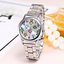 preiswerte Modische Uhren-Damen Armbanduhr Quartz Armbanduhren für den Alltag Legierung Band Analog Freizeit Modisch Elegant Silber / Gold / Rotgold - Gold Silber Rotgold