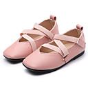 preiswerte Mädchenschuhe-Mädchen Schuhe PU Herbst / Winter Komfort Flache Schuhe Walking Schleife für Beige / Rosa / Dunkelgrün