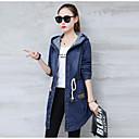 billige Damestøvler-Løstsiddende Dame Ensfarvet Basale Plusstørrelser-Frakke