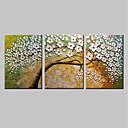 abordables Óleos-Pintura al óleo pintada a colgar Pintada a mano - Floral / Botánico Modern Incluir marco interior / Lona ajustada