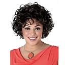 זול פיאות תחרה סינטטיות-פאות סינתטיות מתולתל שיער סינטטי שיער מובהר שחור פאה בגדי ריקוד נשים קצר ללא מכסה
