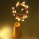 baratos Mangueiras de LED-1 pc 10led 1 m rolha de garrafa de vinho solar cobre fio de fada de tira decoração da festa ao ar livre novidade noite lâmpada diy