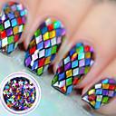 baratos Glitter para Unhas-1 pcs Paetês Clássico Nail Art Design Diário