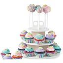 זול בקבוקי אבק & תרמוסים-כלי Bakeware פלסטיק Multi-function / Creative מטבח גאדג'ט שימוש יומיומי / לקבלת Cupcake מעגלי מעמדים