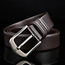 cheap Men's Slip-ons & Loafers-Men's Leather Waist Belt Buckle