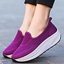 זול מוקסינים לנשים-בגדי ריקוד נשים נעליים רשת נושמת אביב / קיץ נוחות נעליים ללא שרוכים עקב טריז בוהן עגולה שחור / סגול / כחול