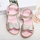 tanie Obuwie dziewczęce-Dla dziewczynek Obuwie Skóra Wiosna Wygoda / Buty dla małych druhen Sandały na Złoty / Biały / Różowy