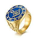 cheap Rings-Men's Band Ring - Fashion 7 / 8 / 9 / 10 / 11 Gold For Work Office & Career