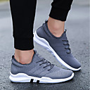 cheap Men's Sneakers-Men's Net / Faux Leather / PU(Polyurethane) Spring / Winter Comfort Athletic Shoes White / Black / Gray / Running Shoes