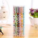 זול כתיבה-ג'ל עט עֵט עטי ג'ל עֵט, פלסטיק צבעים מרובים צבעי דיו עבור ציוד בית ספר ציוד משרדי חבילה של 6 pcs