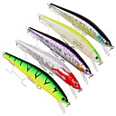 cheap Fishing Tools-5 pcs Pastry Tube Fishing Lures Minnow Hard Bait Plastic Outdoor Sea Fishing Trolling & Boat Fishing Lure Fishing