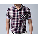 hesapli Bileklik Saatler-Erkek Klasik Yaka Gömlek Desen, Ekose