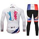 זול צמידי גברים-CYCOBYCO חולצה וטייץ לרכיבה בגדי ריקוד גברים שרוול ארוך אופניים מכנסיים ג'רזי טייץ רכיבה על אופניים צמרות מדים בסטים בגדי רכיבת אופניים