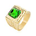 ราคาถูก แหวนผู้ชาย-สำหรับผู้ชาย ไพลิน Cubic Zirconia เล่นไพ่คนเดียว ตัด Radiant คำชี้แจง Ring แหวนตรา เหล็กกล้าไร้สนิม เพทาย แฟชั่น แหวนแฟชั่น เครื่องประดับ แดง / สีเขียว / ฟ้า สำหรับ