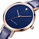 baratos Relógios da Moda-MINI FOCUS Mulheres Relógio de Pulso / Relógio Pavé Chinês Impermeável / Relógio Casual / Legal Couro Legitimo Banda Luxo / Casual / Fashion Preta / Azul