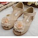 ieftine Pantofi Fetițe-Fete Pantofi Microfibră PU sintetică Vară Confortabili / Pantofi Fata cu Flori Sandale pentru Bej / Roz