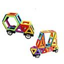 זול בלוקים מגנטיים-בלוק מגנטי אבני בניין 108 pcs מכונית אינטראקציה בין הורים לילד משאית רכב בנייה בנים בנות צעצועים מתנות