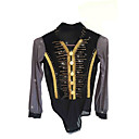 cheap Ice Skating Dresses , Pants & Jackets-Figure Skating Top Men's / Boys' Ice Skating Top Black Spandex Stretchy Skating Wear Sequin Long Sleeve Figure Skating