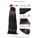 tanie Dopinki w naturalnych kolorach-3 zestawy Włosy brazylijskie Prosta Włosy naturalne Fale w naturalnym kolorze Ludzkie włosy wyplata Ludzkich włosów rozszerzeniach