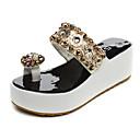 זול נעלי עקב לנשים-בגדי ריקוד נשים נעליים PU אביב / סתיו נוחות סנדלים מטפסים לבן / שחור