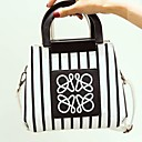 cheap Totes-Women's Bags Polyester / PU Tote Appliques White / Black