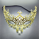 cheap Halloween Masks-Carnival Venetian Mask / Masquerade Mask Golden Metal Cosplay Accessories Christmas / Masquerade Costumes