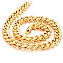 preiswerte Ringe-Herrn Ketten - vergoldet Rockig, Modisch, Hip-Hop Gold Modische Halsketten Für Alltag, Strasse
