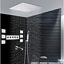 preiswerte Duscharmaturen-Moderne Wandmontage Regendusche Handdusche inklusive Thermostatische Keramisches Ventil Fünf Griffe neun Löcher Chrom, Duscharmaturen