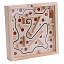 baratos Jogos de Labirinto & Lógica-Labirinto de madeira Labirinto Tema Clássico Interação pai-filho Crianças Adulto Dom