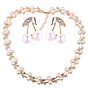 cheap Jewelry Sets-Women's Jewelry Set - Imitation Pearl Cherry, Fruit European, Fashion Include Gold For Wedding Party / Earrings