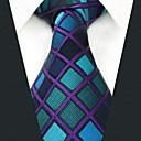tanie LED Grow Lights-Męskie Imprezowa / Do biura Krawat - Jedwab wiskozowy, Wielokolorowa / Kratka / Żakard / Materiał