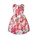 זול שמלות לבנות-שמלה כותנה אקריליק אביב קיץ ללא שרוולים Party יומי אחיד פרחוני סרוג הילדה של פשוט וינטאג' ורוד מסמיק