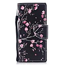cheap Facial Care Devices-Case For Sony Sony Xperia XA Xperia XZ1 Compact Xperia XZ1 Card Holder Wallet with Stand Flip Magnetic Pattern Full Body Cases Flower Hard