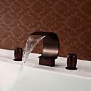 זול מנורות תלויות-שסתום פליז נפוץ עתיק מפלס שני מטפל שלושה חורים שפשף שמן ברונזה, אמבטיה לשירותים ברז הברזים