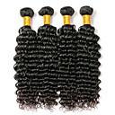 cheap Wedding Shoes-4 Bundles Brazilian Hair Deep Wave Human Hair Natural Color Hair Weaves 8-28 inch Human Hair Weaves Human Hair Extensions