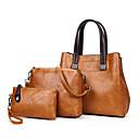 ieftine Seturi Genți-Pentru femei Genți PU Seturi de sac Set de pungi 3 buc Buzunar Geometric Roz Îmbujorat / Gri / Maro