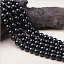 זול חרוזים-תכשיטים DIY 38 יח חרוזים קריסטל שחור עגול חָרוּז 1 cm עשה זאת בעצמך שרשראות צמידים
