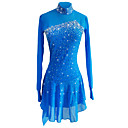 cheap Ice Skating Dresses , Pants & Jackets-Figure Skating Dress Women's / Girls' Ice Skating Dress Sky Blue Spandex, Stretch Yarn Stretchy Skating Wear Sequin Long Sleeve Figure