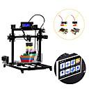 olcso 3D nyomtatók-flsun i3 diy 3d nyomtató készlet nagy nyomtatási terület 300 * 300 * 420 mm 3.2 hüvelykes érintőképernyős kettős extruder