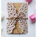 cheap Party Headpieces-Gate-Fold Wedding Invitations 50pcs - Invitation Cards Invitation Sample Mother's Day Cards Baby Shower Cards Bridal Shower Cards