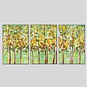 preiswerte Florale/Botansiche Gemälde-Handgemalte Blumenmuster/Botanisch Vertikal Panorama, Modern Hang-Ölgemälde Haus Dekoration Drei Paneele